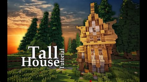 minecraft medieval tall house tutorial design  youtube