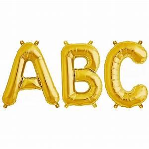 balloon foil letter medium gold foil balloons With letter balloons