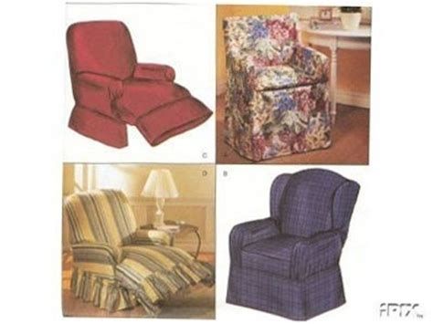 Chair Slipcovers Sewing Pattern Recliner Wingback Directors
