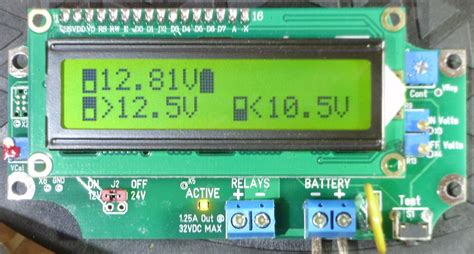 """relay voltage triggered load controller """"with out no delays"""" lvd hvd 1urvtlc 1224 bsd green lcd"""