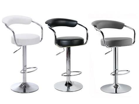 assise de tabouret de cuisine le tabouret de bar canasta coloris blanc noir ou gris