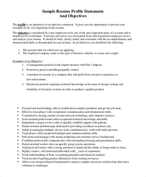 Should A Resume An Objective by Sle Resume Objective Exle 7 Exles In Pdf