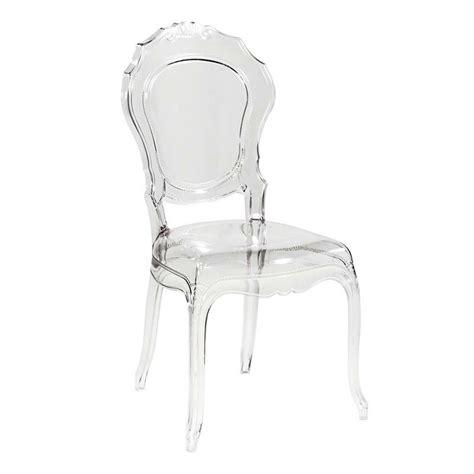 conforama chaise transparente chaise design en polycarbonate style régence