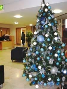 blue and silver christmas tree h christmas trees pinterest silver christmas tree silver