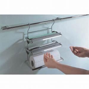 3 etagiger rollenhalter fur relingsystem linero edelstahl for Rollenhalter küche
