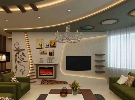 30 Popular Custom Gypsum Board Tv Units