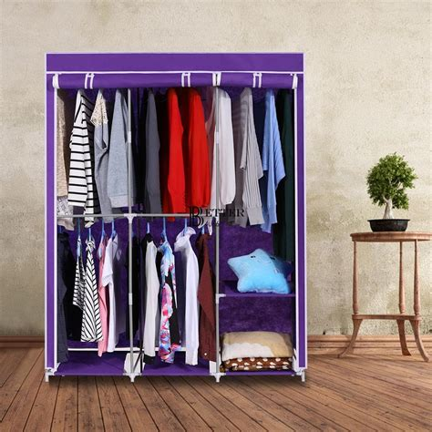 Closet Hangers by Portable Closet Storage Organizer Wardrobe Clothes Rack W