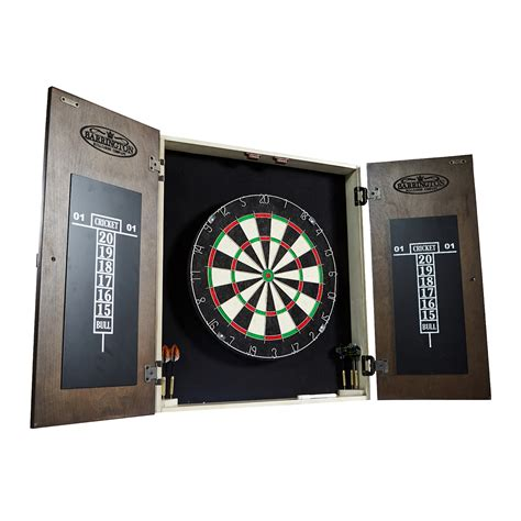 barrington bellevue bristle dartboard cabinet set md sports