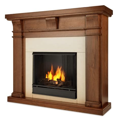Real Flame Porter Ventless Gel Fireplace In Walnut