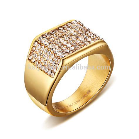 wholesale latest gold finger men s ring design for men