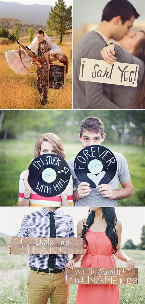 super cute engagement announcement photo