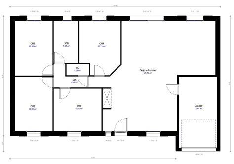 plan maison plain pied 3 chambres en l plan de la maison habitat concept with plan maison 4