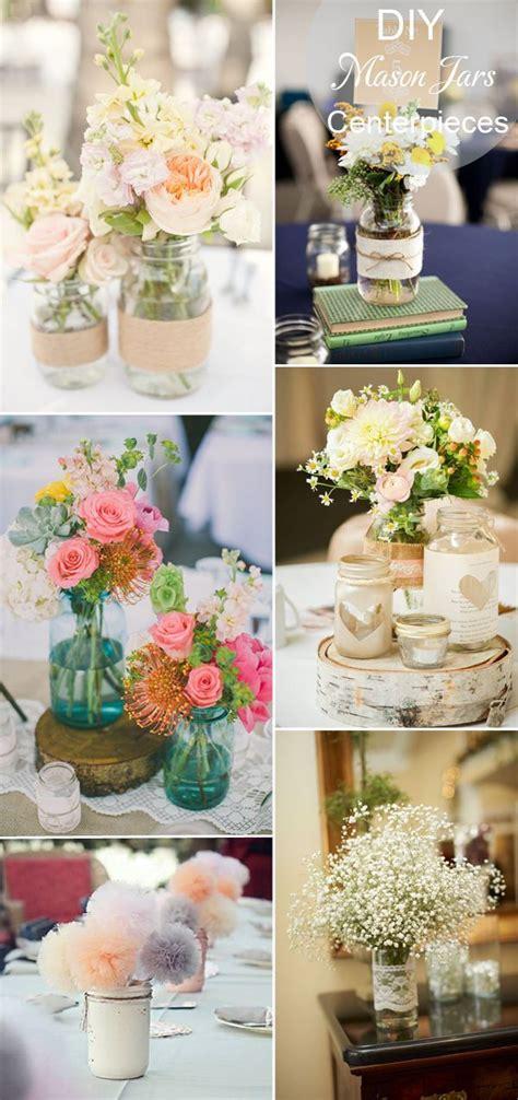 diy rustic inspired mason jars wedding tablke setting and