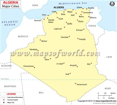 Carte Algerie Villes by Algeria Cities Map Major Cities In Algeria