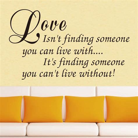 vinyl wall art decal decor love quote stickers love isnt