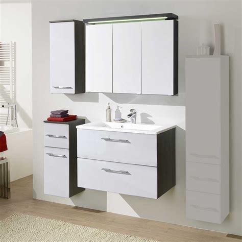 Badezimmermöbel Set Canduss In Weiß Hochglanz Pharao24de