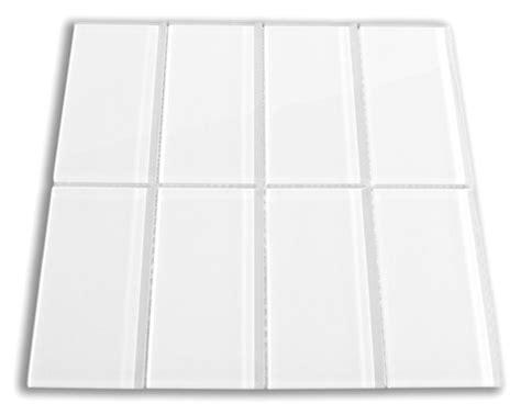 White Glass Subway Tile 3x6 For Backsplashes, Showers