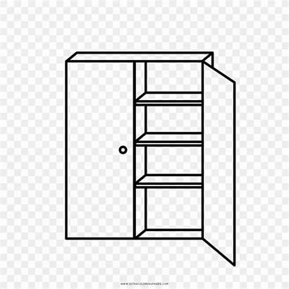 Shelf Drawing Gambar Lemari Coloring Dibujo Dessin