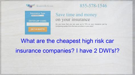 Rv insurance coverage options include liability, collision, comprehensive and more. I recently got my 2nd DWI. I am looking for some of the cheaper high risk auto insurace ...