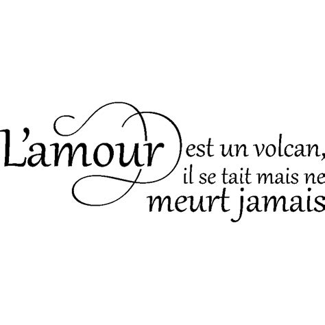 sticker carrelage cuisine sticker citation l 39 amour est un volcan stickers fêtes