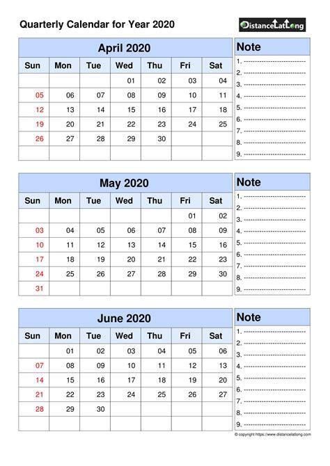 printable quarterly calendar  uk  printable calendar