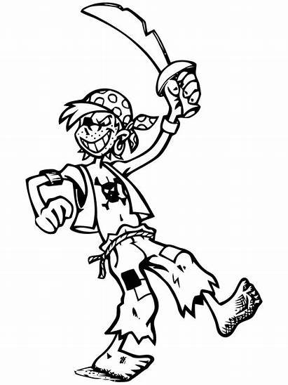 Pirate Funny Coloring Pirates Pages Young Coloriage
