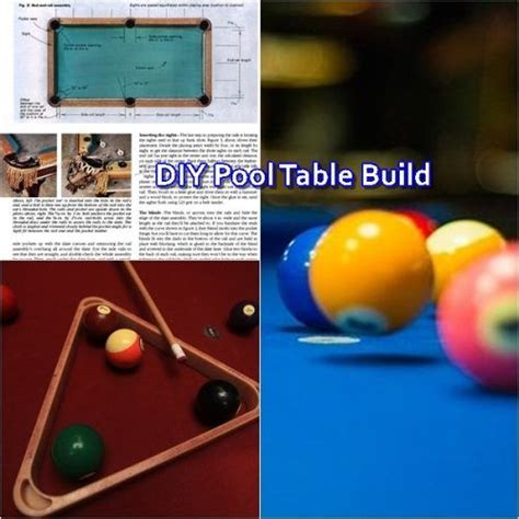 diy pool table build  plans homesteading
