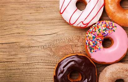 Donuts Background Doughnuts Doughnut Wallpapers 4k Wood
