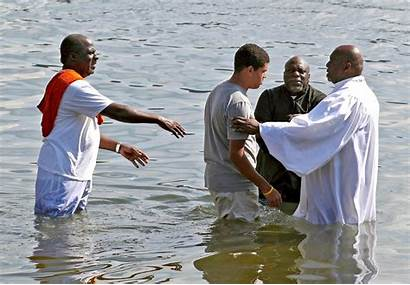 Baptism River Columbia Tabernacle Church Service Ashley