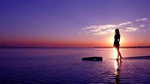 Girls Beach Sunset Photography HD Wallpaper of Beach ...