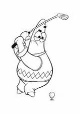 Golf Coloring Pages Spongebob Cartoon Play Patrick Printable Sports Playing Star Club Coloringpages101 Advertisement Ball sketch template