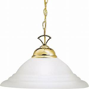 Polished brass finish hanging pendant light fixture