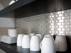 metallic kitchen backsplash metal tile backsplashes pictures ideas tips from hgtv hgtv