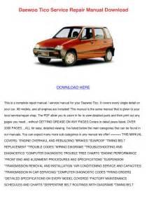 Daewoo Tico Service Repair Manual Download By Byronberube7