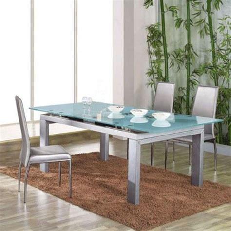 tables de salle a manger en verre table de salle 224 manger en verre structure grise achat vente table a manger sans chaises