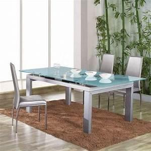 Table à Manger Verre Et Bois : table de salle a manger en verre ~ Teatrodelosmanantiales.com Idées de Décoration