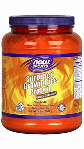 Sprouted Brown Rice Protein  Chocolate Powder  U2013 907 G  U2013 Now