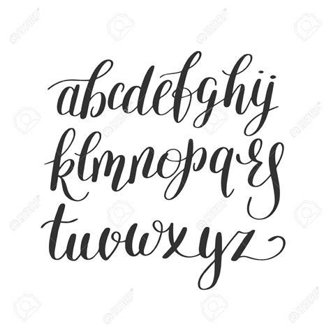 Cursive Lettering Fonts Black And White Hand Lettering Alphabet Design, Handwritten Brush