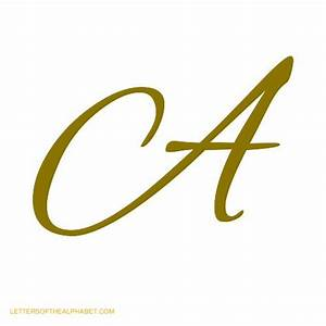 Letters Of The Alphabet In Cursive Gold ...
