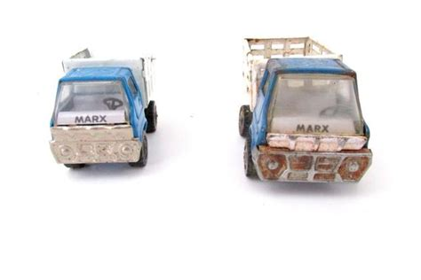 marx toy dump and trash truck of two toy trucks made in etsy