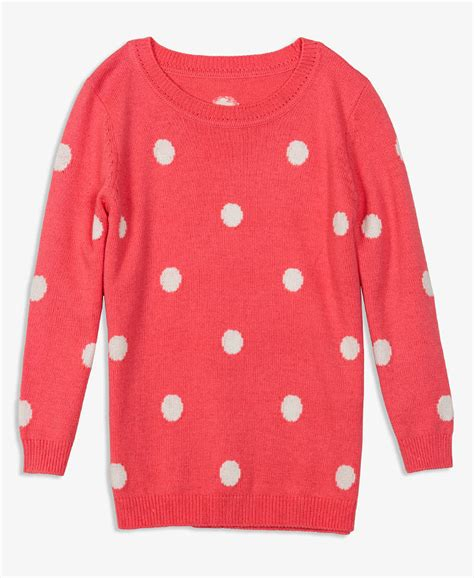 polka dot sweater forever 21 polka dot sweater in pink coral lyst