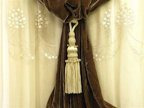 50% Discount Ecru And Old Gold Curtain Tassel Tieback Drapery Passementerie Decoration Supply Best Curtains For Home Office Ceiling Curtain Rails Bay Windows Sound Absorbing Uk Recmar 4108 Bendable I Beam Track Shower Rail Roll Top Bath Mounted Mr And Blinds Fabric Bedroom