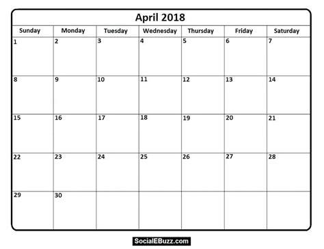 blank monthly calendar template