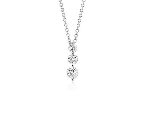 stone drop diamond pendant   white gold  ct