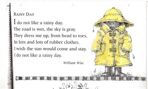 Rhyming Nursery Rhymes For Kids by Poem No 14 Rainy Day Grade 1