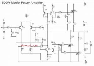 500w Mosfet Power Amplifier 2sk176  2sj56