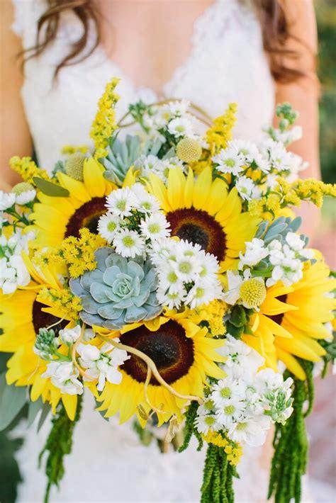 bright sunflowers succulent  daisy bouquet