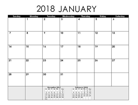 2018 calendar template for word january 2018 printable calendar word calendar 2018
