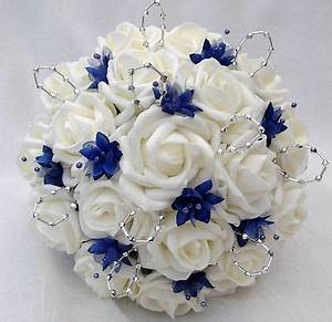 POSIES - ARTIFICIAL WEDDING FLOWERS - BRIDES POSY BOUQUET ...