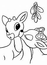Reindeer Coloring Rudolph Angel sketch template